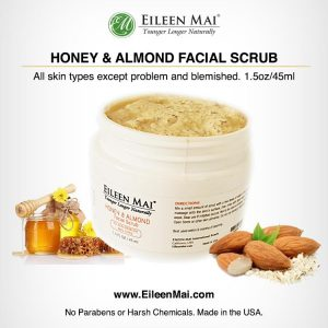 Honey Almond Facial Scrub with pics